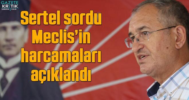 Sertel sordu Meclis'in harcamaları açıklandı