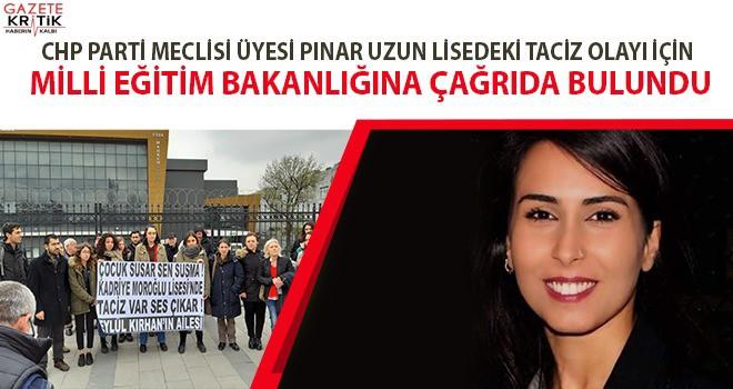 CHP'Lİ PINAR UZUN, TACİZ DAVASININ TAKİPÇİSİ...