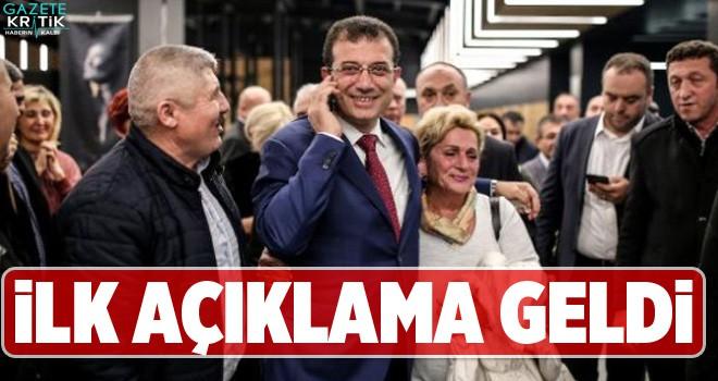 CHP'nin İstanbul adayı Ekrem İmamoğlu'ndan ilk...
