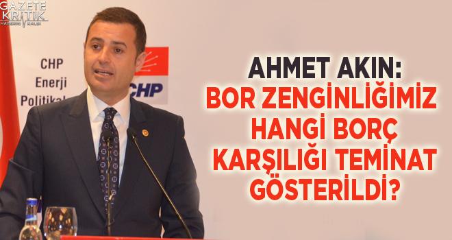 CHP'Lİ AHMET AKIN: VARLIK FONU SATIŞA ÇIKARILDI...