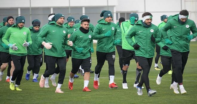 Atiker Konyaspor'da Trabzonspor maçı hazırlıkları...