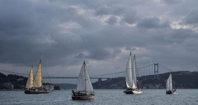 The Bodrum Cup, İstanbul Boğazı'nda yapılan kortej...