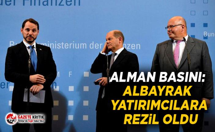 Alman basını: Albayrak yatırımcılara rezil oldu