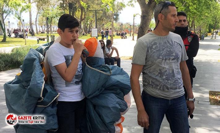 Antalya'da falezler üzerinden yamaç paraşütüne ceza