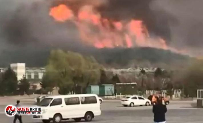 Çin'de ormanda büyük yangın