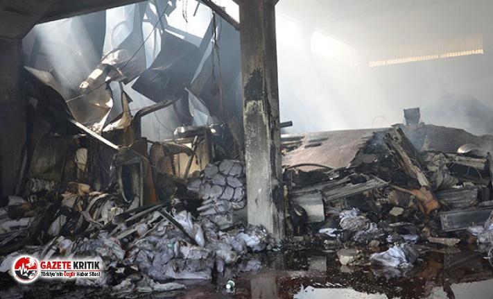 Denizli'de, yangın çıkan fabrikada 4 milyon liralık hasar