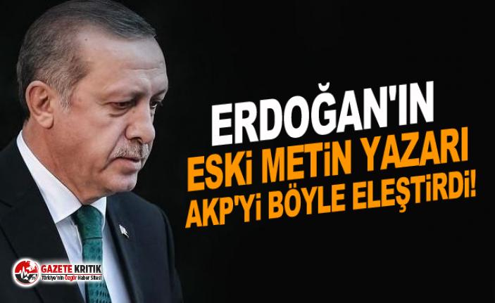 Erdoğan'ın eski metin yazarı AKP'yi böyle...