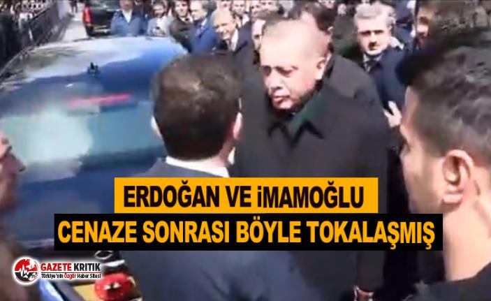 Erdoğan ve İmamoğlu cenaze sonrası böyle tokalaşmış