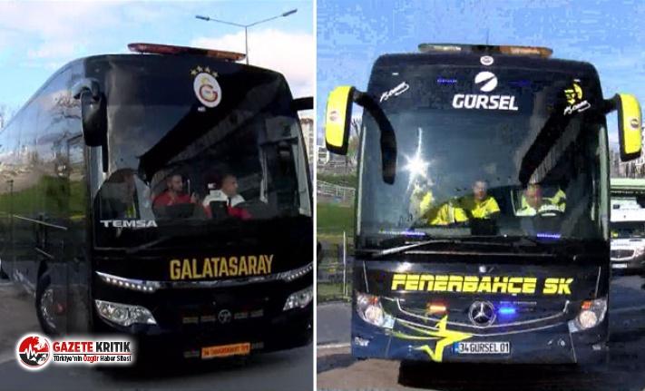 Fenerbahçe ve Galatasaray stada ulaştı