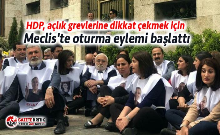 HDP, açlık grevlerine dikkat çekmek için Meclis'te...