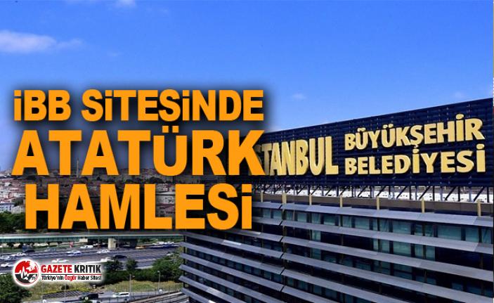 İBB sitesinde Atatürk hamlesi