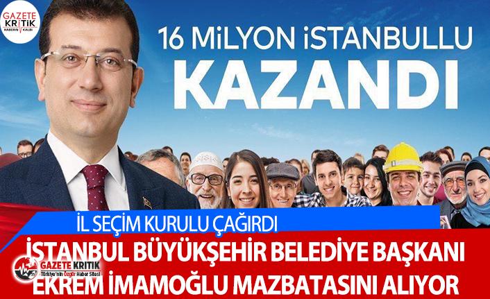 İstanbul Büyükşehir Belediye Başkanı Ekrem İmamoğlu...