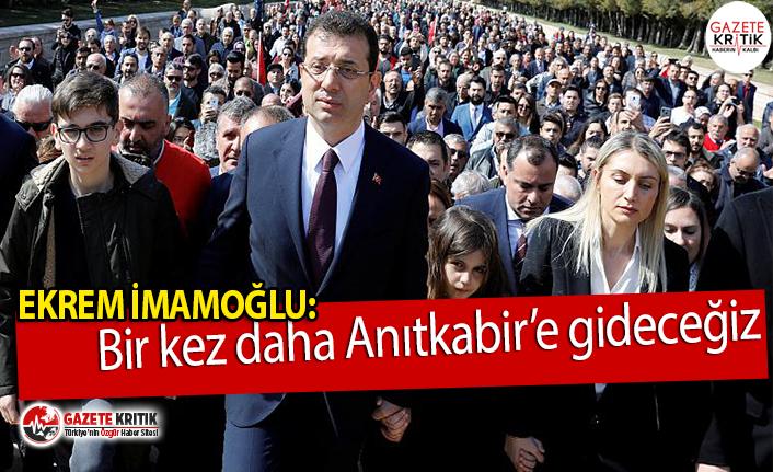 İstanbul Büyükşehir Belediye Başkanı Ekrem İmamoğlu:Bir...