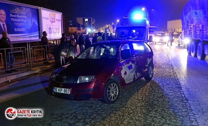 İtfaiye aracı ile çarpışan otomobildeki 5 kişi yaralandı