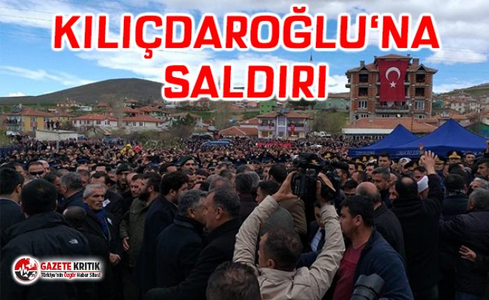 Kılıçdaroğlu'na Ankara'da cenaze töreninde...