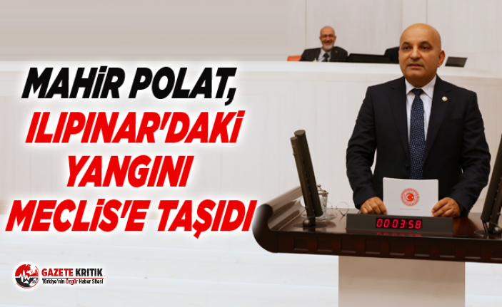 MAHİR POLAT, ILIPINAR'DAKİ YANGINI MECLİS'E...