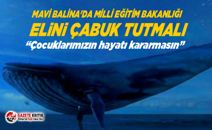 MAVİ BALİNA'DA MİLLİ EĞİTİM BAKANLIĞI...
