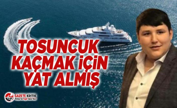 Mehmet Aydın'ın kaçmak için yat aldığı...