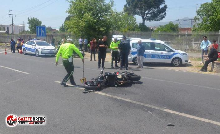 Otomobil ile motosiklet çarpıştı: 1 ölü, 1 ağır...