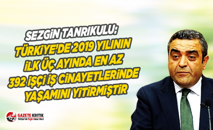 Sezgin Tanrıkulu:Türkiye'de 2019 yılının ilk...