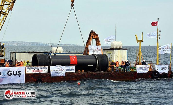 Trakya'yı kirlilikten kurtaracak projede, Marmara Denizi'ne son boru indirildi
