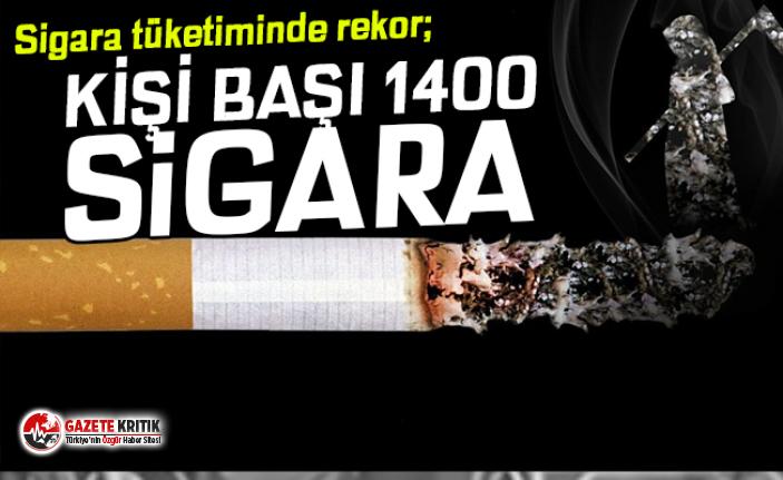 Tütün tüketiminde rekor: Kişi başına 1400 sigara