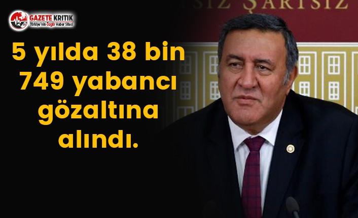 5 yılda 38 bin 749 yabancı gözaltına alındı