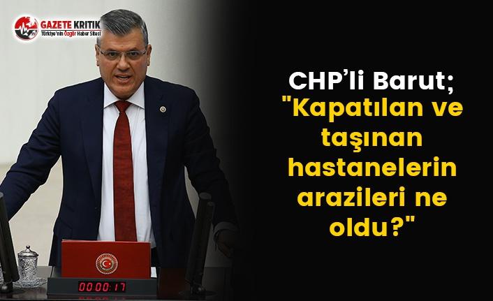 Ayhan Barut, Meclis'te Sağlık Bakanı'na...
