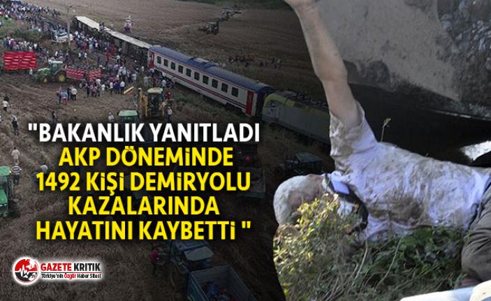 """""""BAKANLIK YANITLADI AKP DÖNEMİNDE 1492 KİŞİ..."""