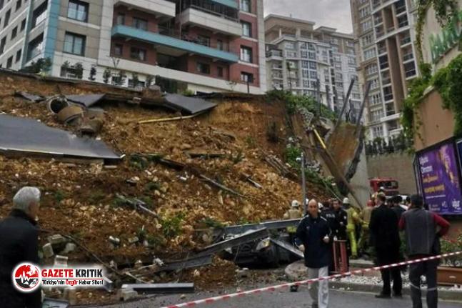 Başakşehir'de istinat duvarı çöktü: 1 kişi...