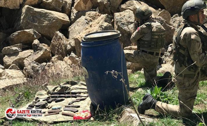 Başkale'de PKK cephaneliği ele geçirildi
