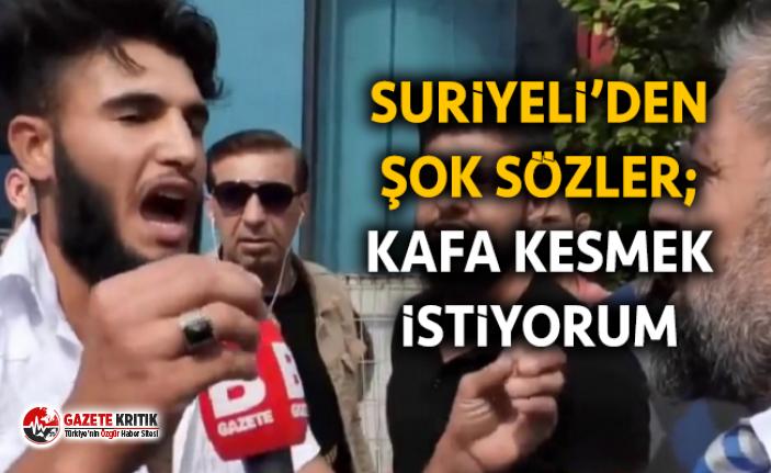 Bursa'da sokak röportajında 'Kafa keseceğim' diyen kişi gözaltına alındı