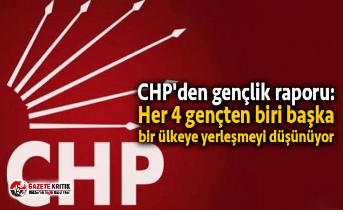 CHP'den gençlik raporu: Her 4 gençten biri...