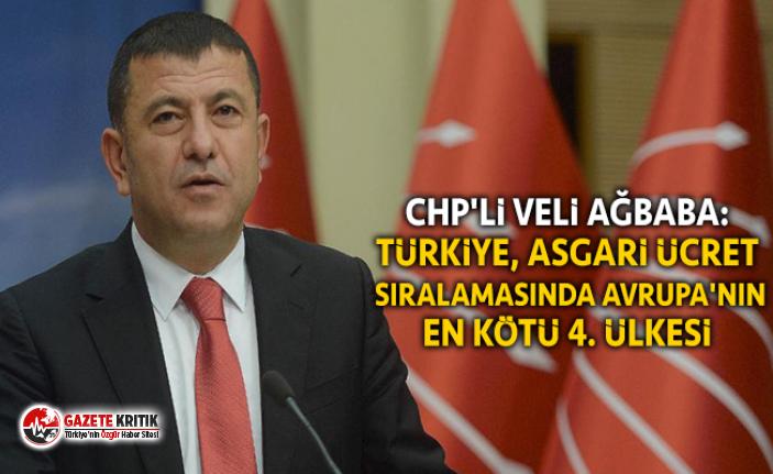 CHP'li Ağbaba: Türkiye, asgari ücret sıralamasında Avrupa'nın en kötü 4. ülkesi