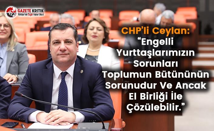 CHP'li Ceylan'dan Engelliler Haftası Mesajı