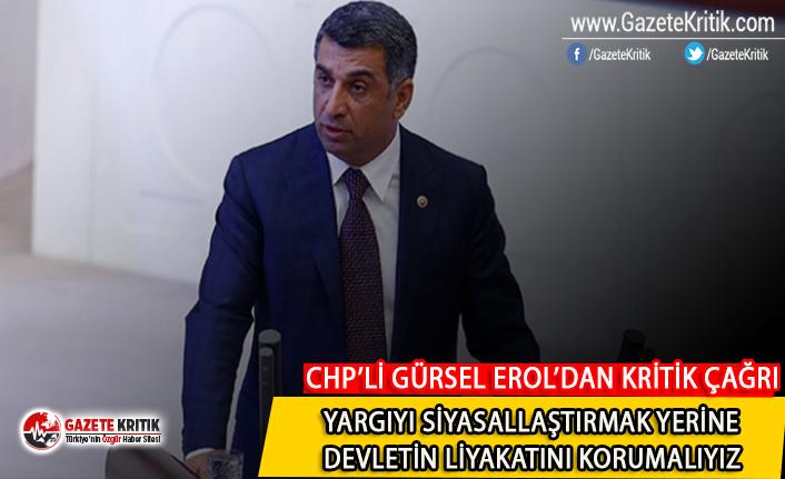 CHP'li Gürsel Erol'dan Meclis'te kritik çağrı