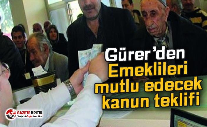 CHP Milletvekili Gürer'den Emeklileri mutlu edecek...