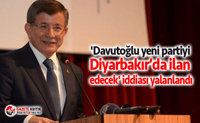 'Davutoğlu yeni partiyi Diyarbakır'da ilan...