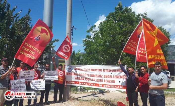 HKP Gençliği, 286 gündür direnen Muğla Tüvtürk...