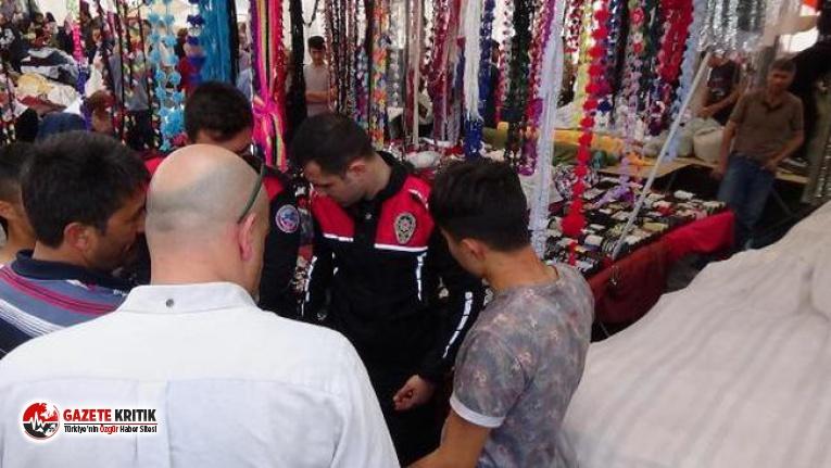 Kadıköy'de pazarcıların makaslı kavgası
