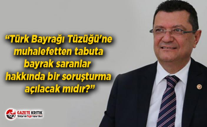 Mehmet GÖKER tabuta sarılan Türk Bayrağını sordu…