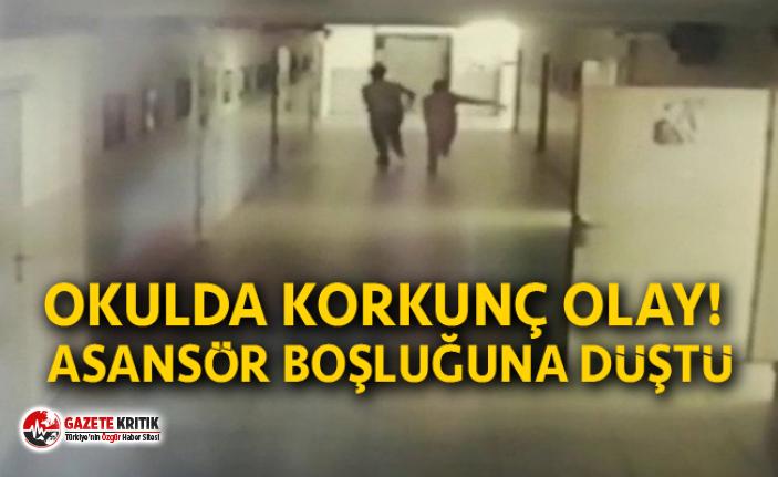 Okulda korkunç olay! Asansör boşluğuna düştü