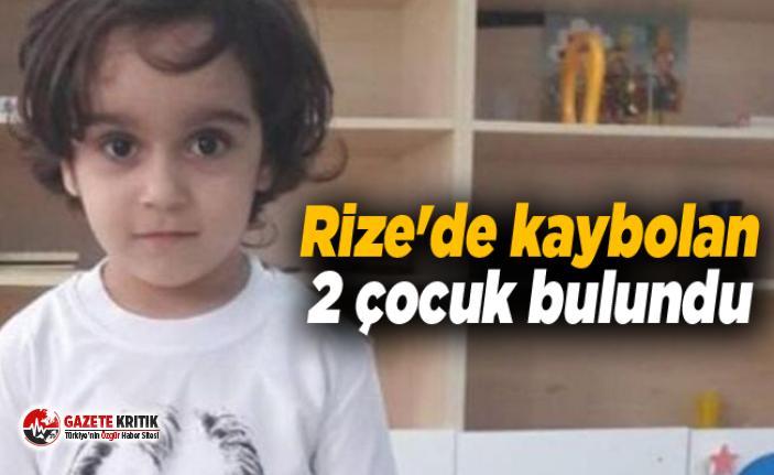 Rize'de kaybolan 2 çocuk bulundu