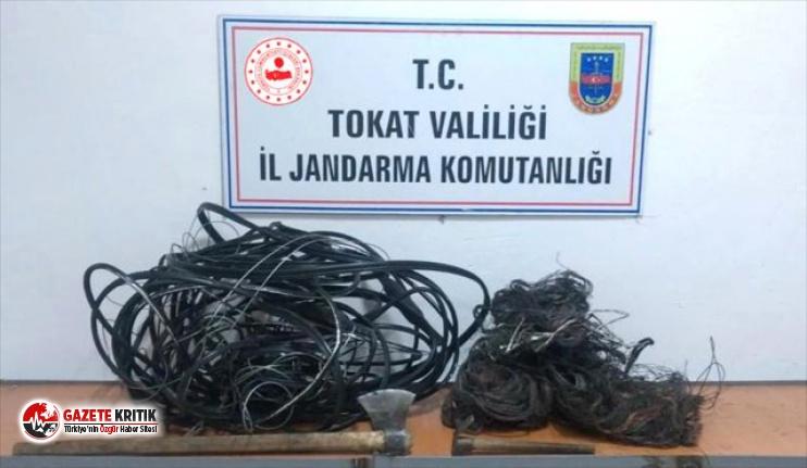 Tokat'ta kablo hırsızlığı şüphelileri...