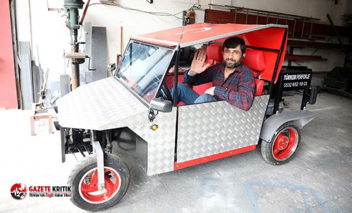 Trabzonlu demir ustası kendi otomobilini yaptı