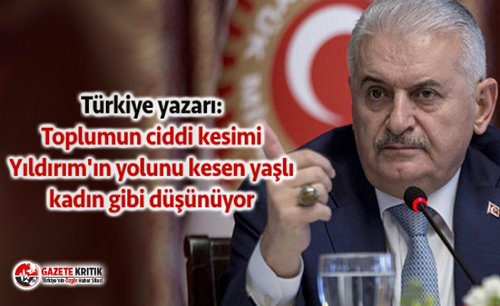 Türkiye yazarı: Toplumun ciddi kesimi Yıldırım'ın...