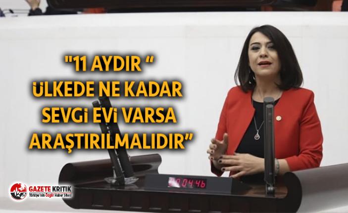 """""""ÜLKEDE NE KADAR SEVGİ EVİ VARSA ARAŞTIRILMALIDIR"""""""