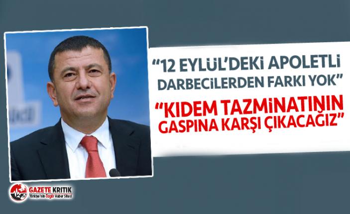 """VELİ AĞBABA: """"12 EYLÜL'DEKİ APOLETLİ DARBECİLERDEN FARKI YOK"""""""