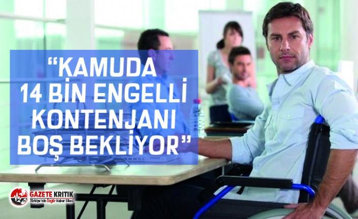 "VELİ AĞBABA ""KAMUDA 14 BİN ENGELLİ KONTENJANI..."