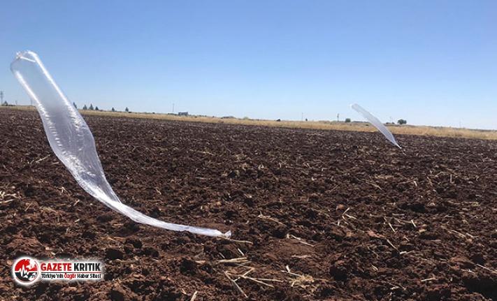 Viranşehir'de, uçlarında uçaksavar mermisi bağlı 2 balon bulundu
